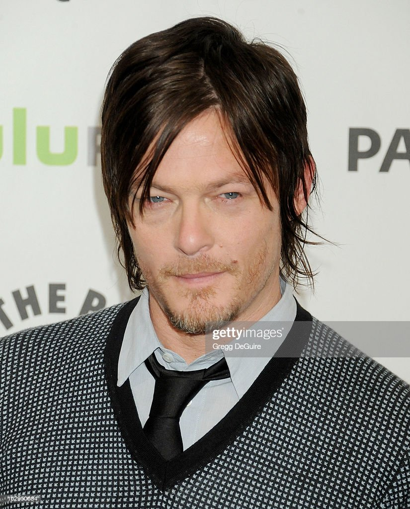 Actor <a gi-track='captionPersonalityLinkClicked' href=/galleries/search?phrase=Norman+Reedus&family=editorial&specificpeople=747258 ng-click='$event.stopPropagation()'>Norman Reedus</a> arrives at the 30th Annual PaleyFest: The William S. Paley Television Festival featuring 'The Walking Dead' at Saban Theatre on March 1, 2013 in Beverly Hills, California.