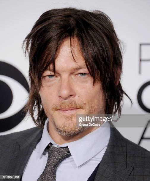 Actor Norman Reedus arrives at the 40th Annual People's Choice Awards at Nokia Theatre LA Live on January 8 2014 in Los Angeles California