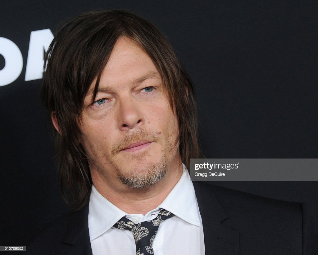 Actor Norman Reedus arrives at the premiere of Open Road's 'Triple 9' at Regal Cinemas L.A. Live on February 16, 2016 in Los Angeles, California.