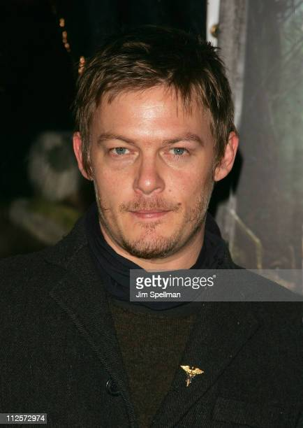 Actor Norman Reedus arrives at 'The Spiderwick Chronicles' premiere at AMC Lincoln Square on February 4 2008 in New York City