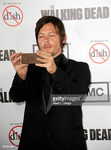 Actor Norman Reedus arrives for AMC's 'The Walking Dead' Season 3 Premiere held at AMC Universal Citywalk Stadium 19 on October 4 2012 in Universal...
