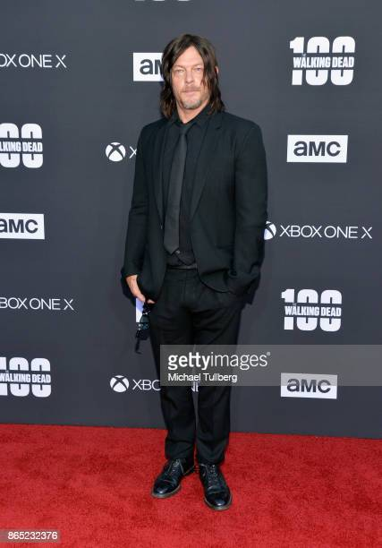 Actor Norman Reedus attends AMC's celebration of the 100th episode of 'The Walking Dead' at The Greek Theatre on October 22 2017 in Los Angeles...
