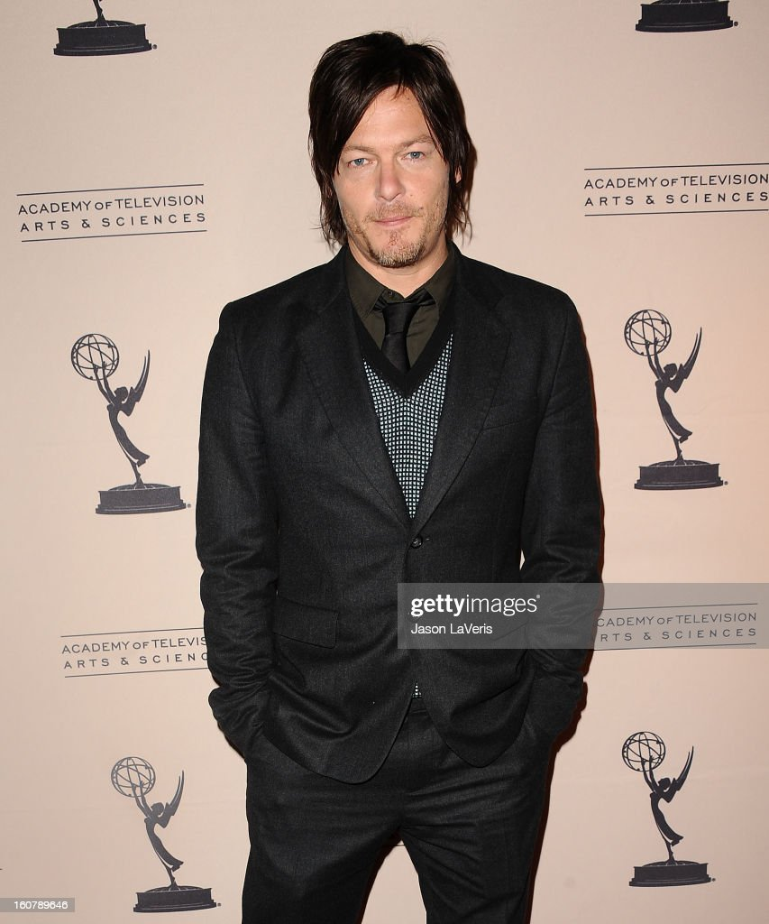 Actor Norman Reedus attends an evening with 'The Walking Dead' at Leonard H. Goldenson Theatre on February 5, 2013 in North Hollywood, California.