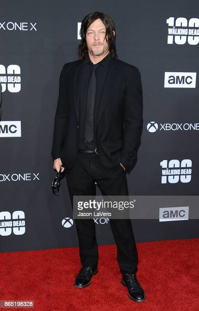 Actor Norman Reedus attends the 100th episode celebration off 'The Walking Dead' at The Greek Theatre on October 22 2017 in Los Angeles California