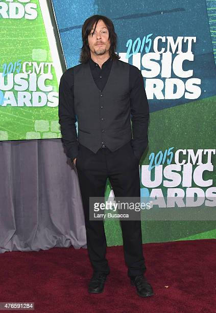 Actor Norman Reedus attends the 2015 CMT Music awards at the Bridgestone Arena on June 10 2015 in Nashville Tennessee