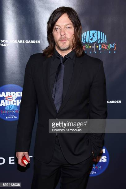 Actor Norman Reedus attends the 2017 Garden Of Laughs Comedy Benefit at The Theater at Madison Square Garden on March 28 2017 in New York City