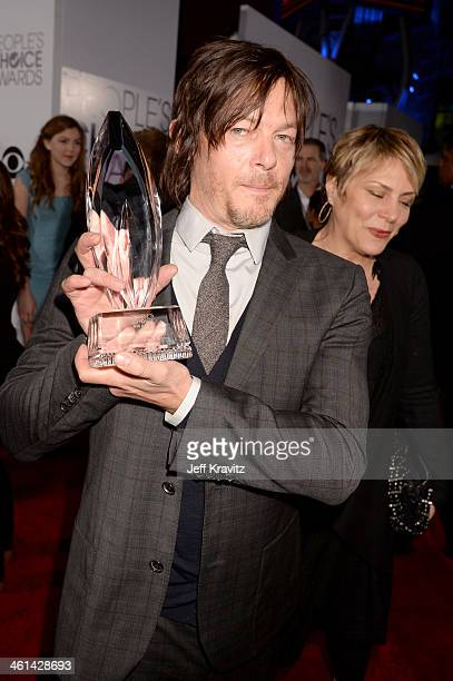 Actor Norman Reedus attends The 40th Annual People's Choice Awards at Nokia Theatre LA Live on January 8 2014 in Los Angeles California