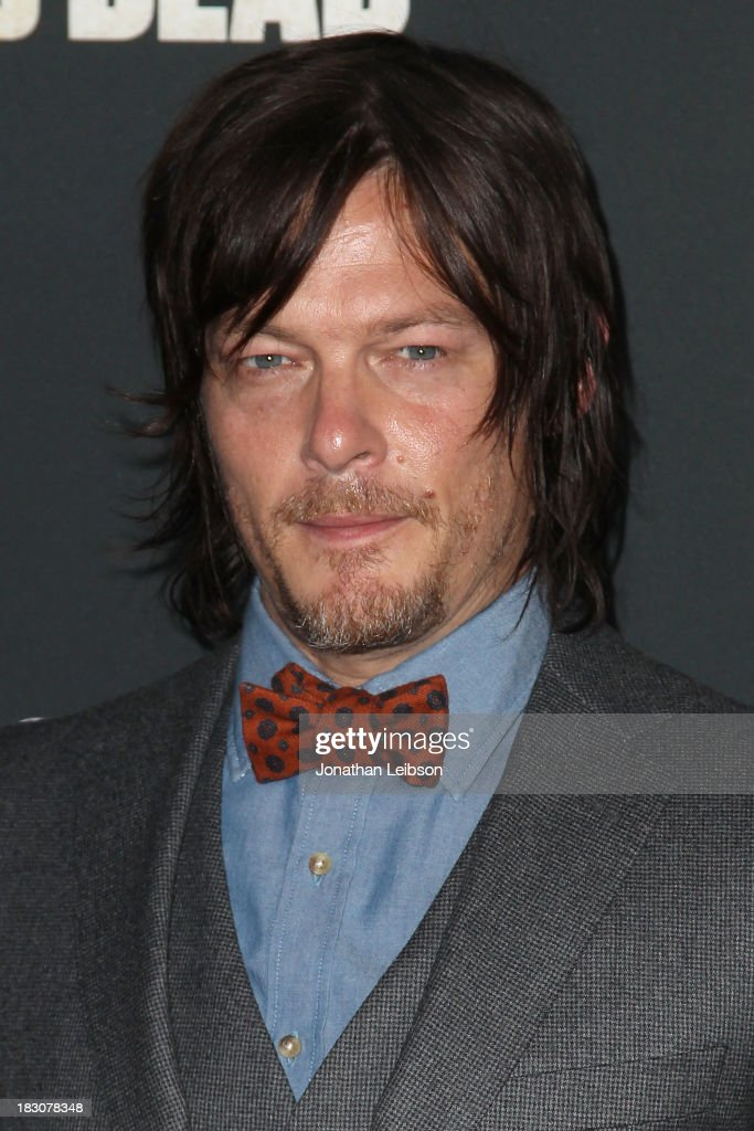 Actor <a gi-track='captionPersonalityLinkClicked' href=/galleries/search?phrase=Norman+Reedus&family=editorial&specificpeople=747258 ng-click='$event.stopPropagation()'>Norman Reedus</a> attends the AMC's 'The Walking Dead' - Season 4 Premiere Party at AMC Universal City Walk on October 3, 2013 in Universal City, California.