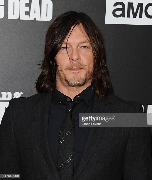 Actor Norman Reedus attends the live 90minute special edition of 'Talking Dead' at Hollywood Forever on October 23 2016 in Hollywood California