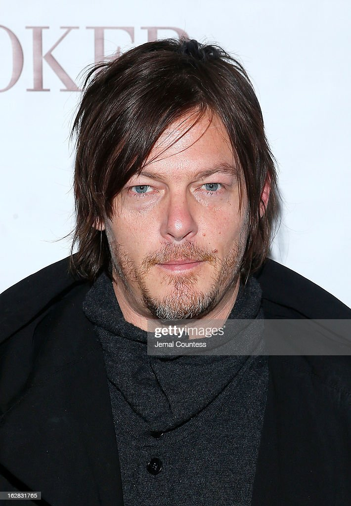 Actor Norman Reedus attends the 'Stoker' New York Screening at The Film Society of Lincoln Center Walter Reade Theatre on February 27 2013 in New...