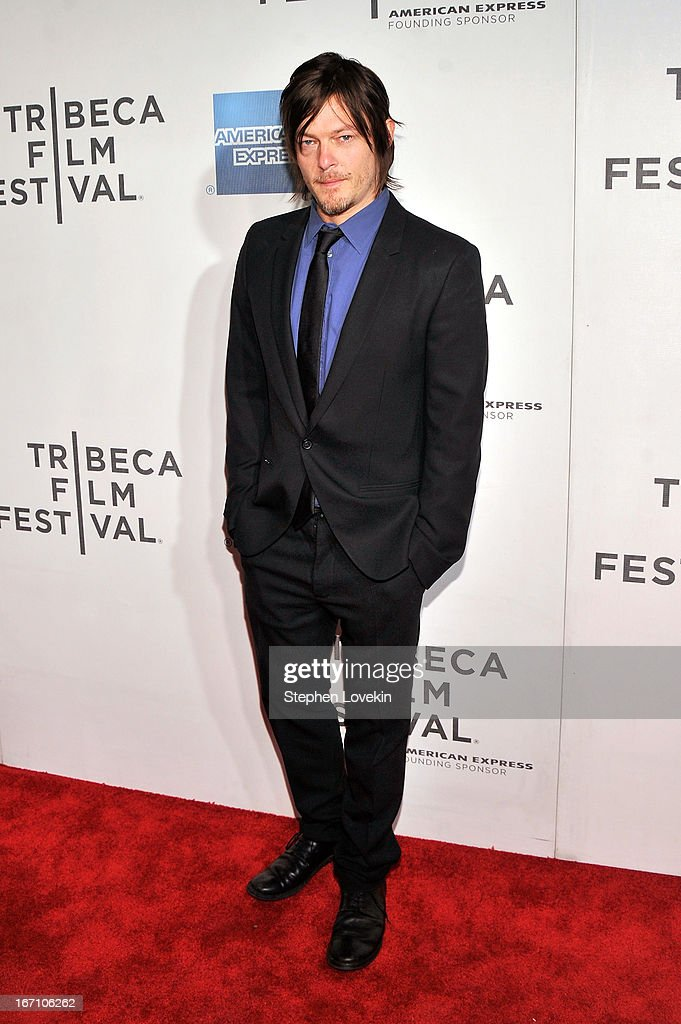 Actor <a gi-track='captionPersonalityLinkClicked' href=/galleries/search?phrase=Norman+Reedus&family=editorial&specificpeople=747258 ng-click='$event.stopPropagation()'>Norman Reedus</a> attends the 'Sunlight Jr.' World Premiere during the 2013 Tribeca Film Festival on April 20, 2013 in New York City.