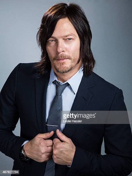 Actor Norman Reedus is photographed for Downtown Magazine on February 25 in New York City