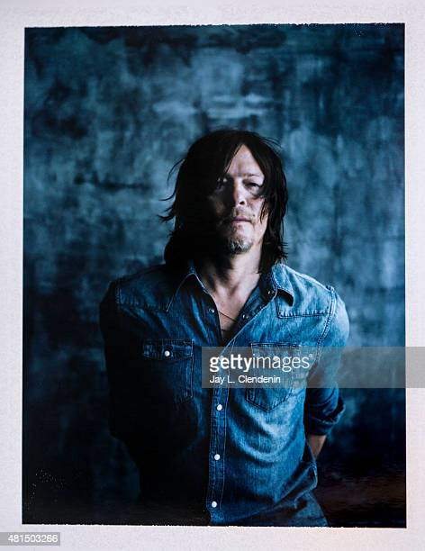 Actor Norman Reedus of 'The Walking Dead' is photographed on polaroid film at ComicCon International 2015 for Los Angeles Times on July 9 2015 in San...
