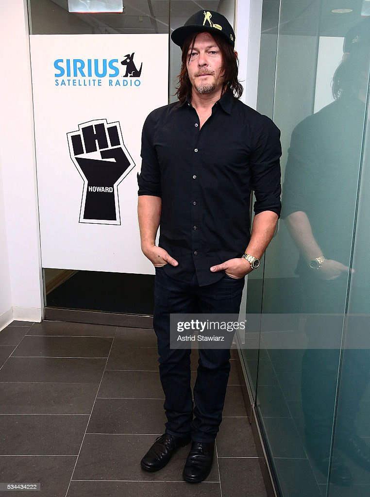 Actor <a gi-track='captionPersonalityLinkClicked' href=/galleries/search?phrase=Norman+Reedus&family=editorial&specificpeople=747258 ng-click='$event.stopPropagation()'>Norman Reedus</a> visits the SiriusXM Studios on May 26, 2016 in New York City.