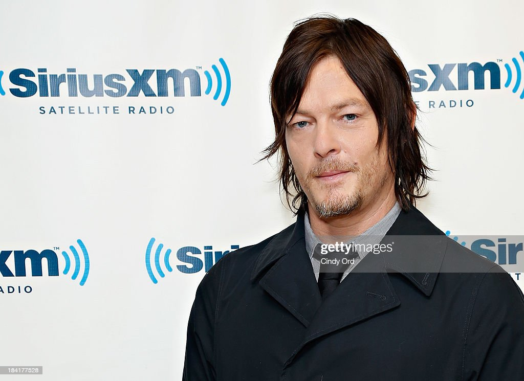 Actor <a gi-track='captionPersonalityLinkClicked' href=/galleries/search?phrase=Norman+Reedus&family=editorial&specificpeople=747258 ng-click='$event.stopPropagation()'>Norman Reedus</a> visits the SiriusXM Studios on October 11, 2013 in New York City.