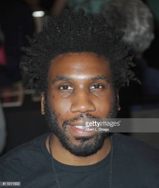 Actor Nyambi Nyambi signs autographs at The Hollywood Show held at Westin LAX Hotel on July 8 2017 in Los Angeles California