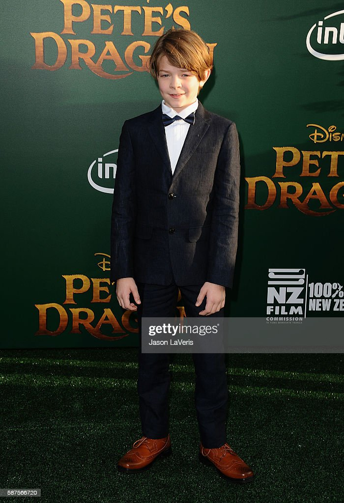 Actor Oakes Fegley attends the premiere of 'Pete's Dragon' at the El Capitan Theatre on August 8 2016 in Hollywood California
