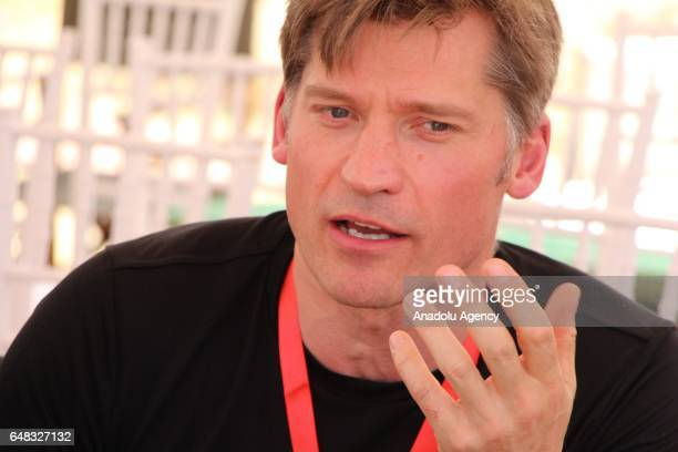 Actor of Game of Thrones Nikolaj CosterWaldau is seen as he referees during Global Goals World Cup women's soccer tournament as the newest UN...