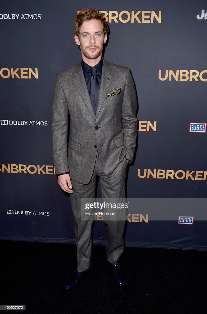 Actor of Luke Treadaway arrives at the Premiere Of Universal Studios' 'Unbroken' at TCL Chinese Theatre on December 15 2014 in Hollywood California