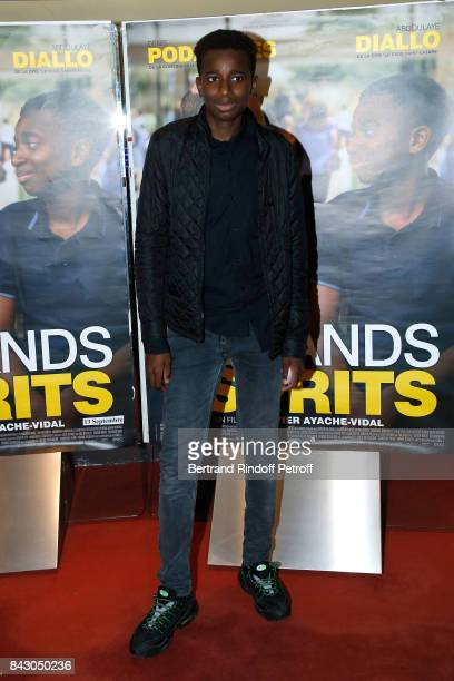 Actor of the movie Abdoulaye Diallo attends the 'Les grands Esprits' Paris Premiere at UGC Cine Cite des Halles on September 5 2017 in Paris France