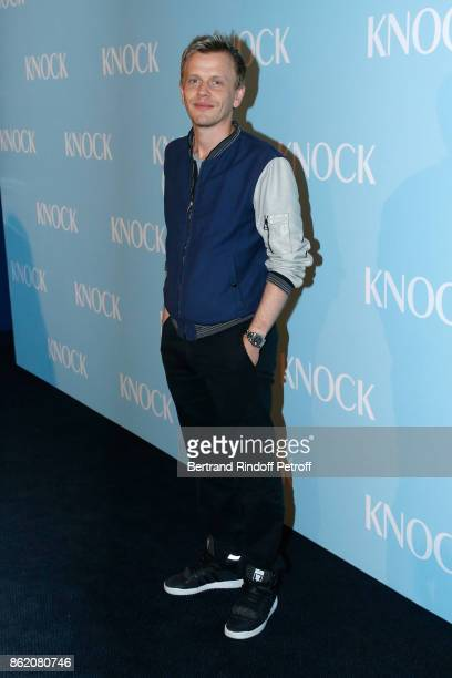 Actor of the movie Alex Lutz attends the 'Knock' Paris Premiere at Cinema UGC Normandie on October 16 2017 in Paris France