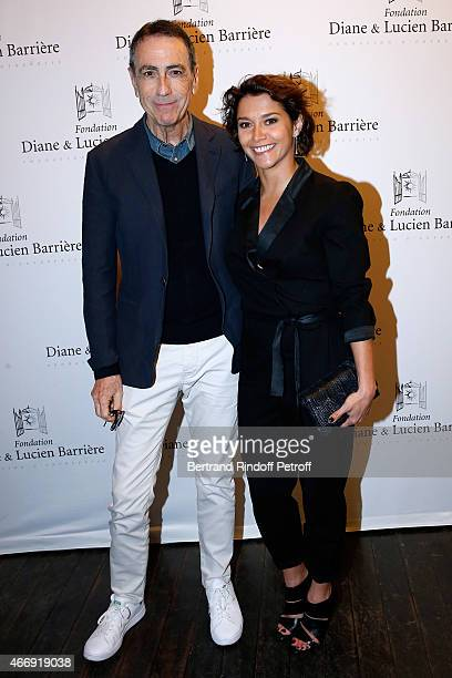 Actor of the movie and singer Alain Chamfort and her daughter in the movie actress Emma de Caunes attend movie 'Les Chateaux de Sable' receives...