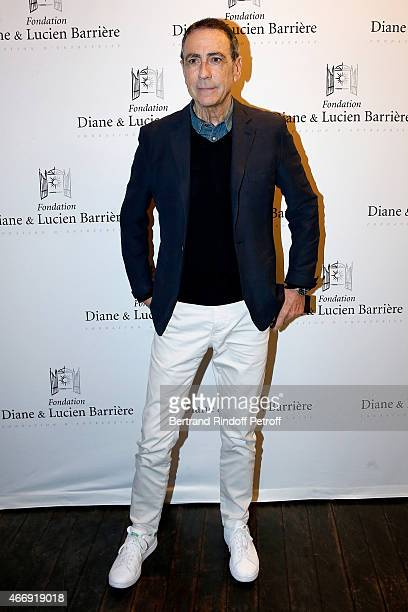 Actor of the movie and singer Alain Chamfort attends movie 'Les Chateaux de Sable' receives Cinema Award 2015 of Foundation Diane Lucien Barriere...