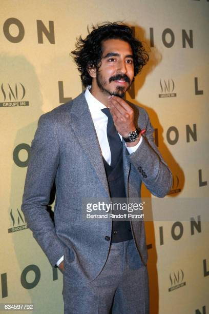 Actor of the movie Dev Patel attends the 'Lion' Paris premiere at Cinema Gaumont Opera on February 10 2017 in Paris France