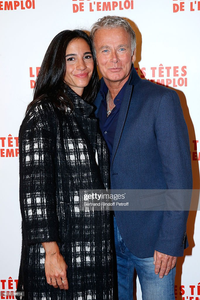 Actor of the movie, Franck Dubosc and his wife Daniele attend 'Les Tetes de l''Emploi' Paris Premiere at Cinema Gaumont Opera Capucines on November 14, 2016 in Paris, France.