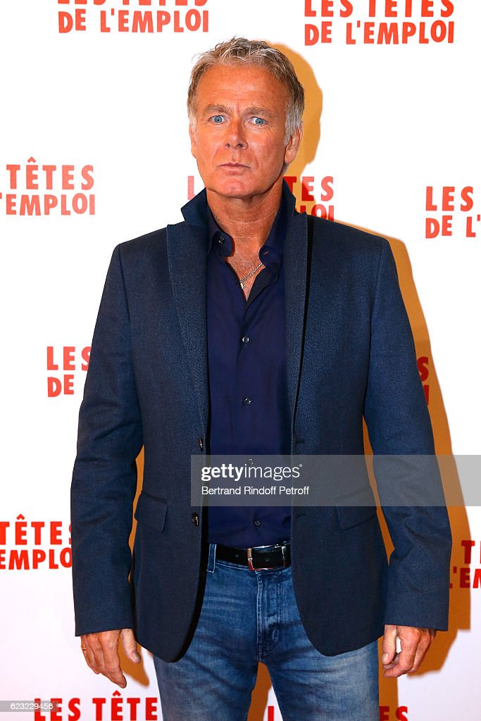 Actor of the movie, Franck Dubosc attends 'Les Tetes de l''Emploi' Paris Premiere at Cinema Gaumont Opera Capucines on November 14, 2016 in Paris, France.
