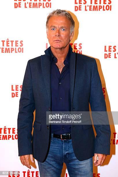 Actor of the movie Franck Dubosc attends 'Les Tetes de l''Emploi' Paris Premiere at Cinema Gaumont Opera Capucines on November 14 2016 in Paris France