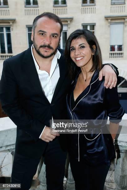 Actor of the movie FrancoisXavier Demaison and Director of the movie Reem Kherici attend the 'Jour J' Paris movie Premiere on April 24 2017 in Paris...