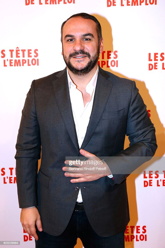 Actor of the movie, Francois-Xavier Demaison attends 'Les Tetes de l''Emploi' Paris Premiere at Cinema Gaumont Opera Capucines on November 14, 2016 in Paris, France.