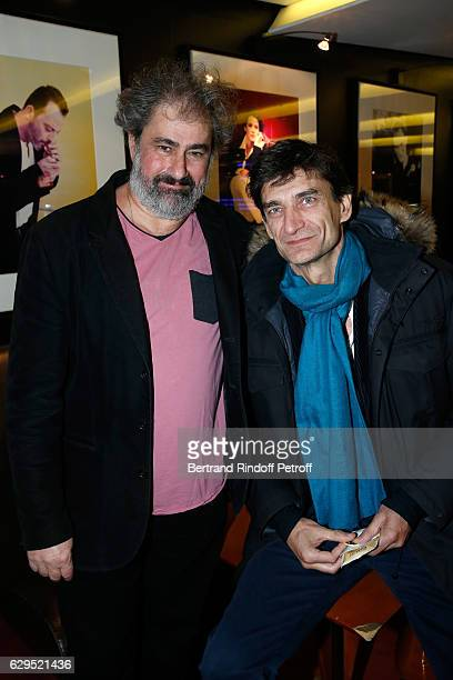 Actor of the movie Gustave Kervern and producer Nicolas Altmayer attend the 'Cigarettes Chocolat Chaud' Paris Premiere at UGC Cine Cite des Halles on...