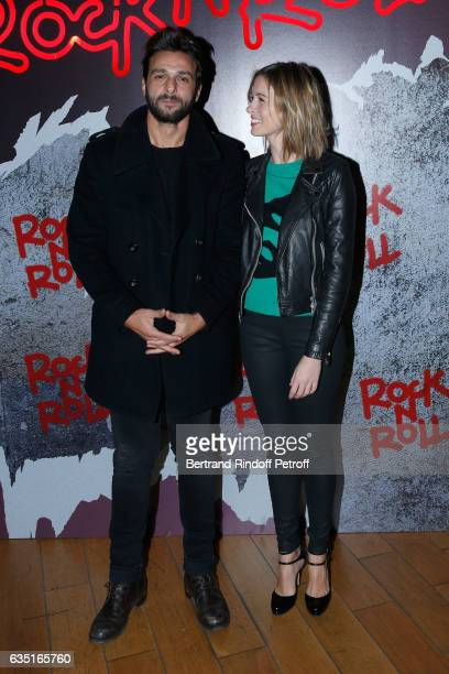 Actor of the movie Maxim Nucci and journalist Isabelle Ithurburu attend the 'Rock'N Roll' Premiere at Cinema Pathe Beaugrenelle on February 13 2017...