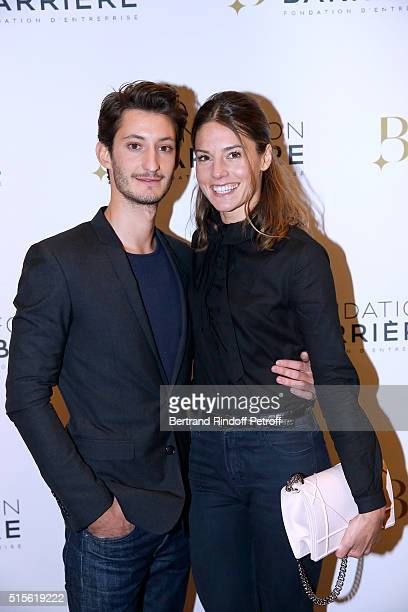 Actor of the movie Pierre Niney and Natasha Andrews attend the Premiere of 'Five' Laureat Du Prix Cinema 2016 Fondation Diane And Lucien Barriere...