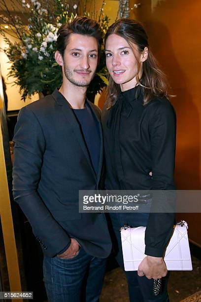 Actor of the movie Pierre Niney and Natasha Andrews attend the Cocktail following the Premiere of 'Five' Laureat Du Prix Cinema 2016 Fondation Diane...