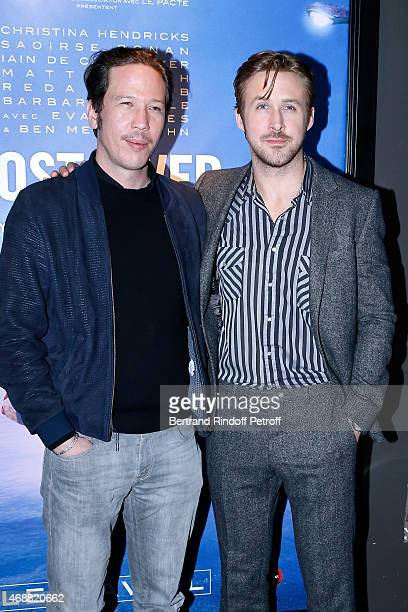 Actor of the movie Reda Kateb and Director of the movie Ryan Gosling attend the 'Lost River' Paris Premiere held at UGC Cine Cite Bercy on April 7...
