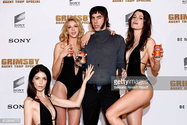 Actor of the movie Sacha Baron Cohen attends the 'The Brothers Grimsby Grimbsy Agent Trop Special' Paris Photocall at Hotel Le Bristol on February 16...