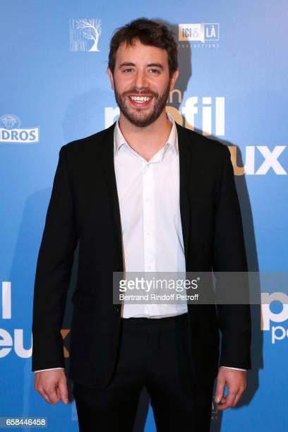 Actor of the movie Yaniss Lespert attends the 'Un profil pour deux' Paris Premiere at Cinema UGC Normandie on March 27 2017 in Paris France