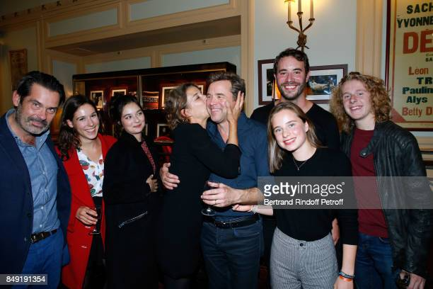 Actor of the piece Guillaume de Tonquedec his daughter Victoire actress Isabelle Gelinas producer of the TV Series Guillaume Renouil and actors of...
