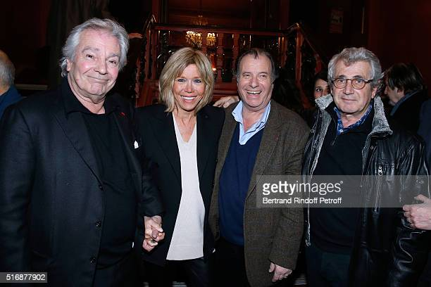Actor of the Piece Pierre Arditi Miss Emmanuel Macron Actor of the Piece Daniel Russo and Michel Boujenah attend the 'L'Etre ou pas' Theater play at...