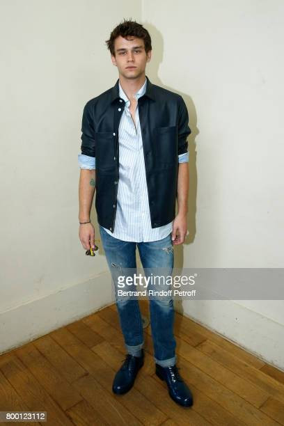 Actor of the TV Series '13 Reasons Why' Brandon Flynn attends the Cerruti Menswear Spring/Summer 2018 show as part of Paris Fashion Week on June 23...