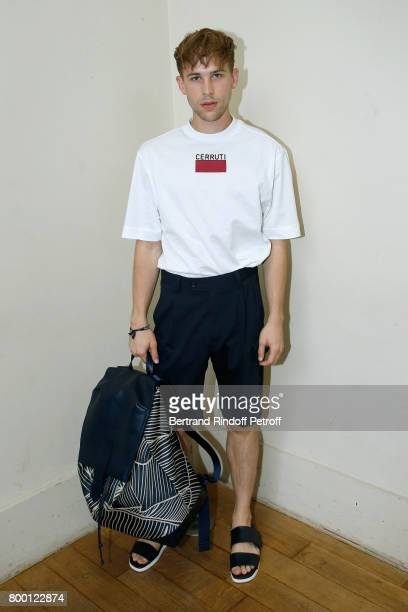 Actor of the TV Series '13 Reasons Why' Tommy Dorfman attends the Cerruti Menswear Spring/Summer 2018 show as part of Paris Fashion Week on June 23...