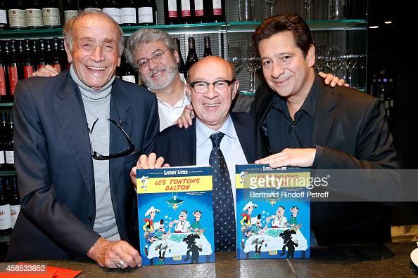 Actor of 'Tontons Flingueurs' Venantino Venantini Drawer Achde Cowriter Jacques Pessis and cowriter Laurent Gerra attend Impersonator Laurent Gerra...