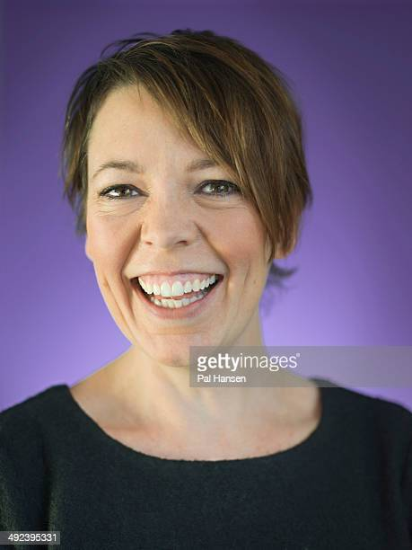 Actor Olivia Colman is photographed for the Observer on November 21 2013 in London England