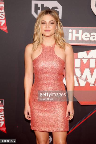 Actor Olivia Holt attends the 2017 iHeartRadio Music Awards which broadcast live on Turner's TBS TNT and truTV at The Forum on March 5 2017 in...