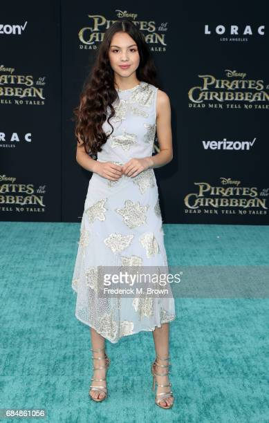 Actor Olivia Rodrigo attends the premiere of Disney's 'Pirates Of The Caribbean Dead Men Tell No Tales' at Dolby Theatre on May 18 2017 in Hollywood...