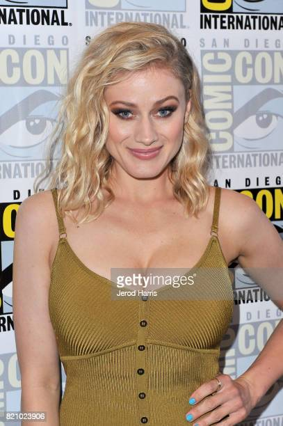 Actor Olivia Taylor Dudley at 'The Magicians' Press Line during ComicCon International 2017 at Hilton Bayfront on July 22 2017 in San Diego California