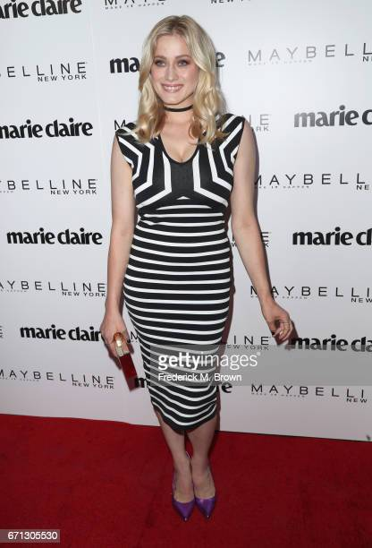 Actor Olivia Taylor Dudley attends Marie Claire's 'Fresh Faces' celebration with an event sponsored by Maybelline at Doheny Room on April 21 2017 in...